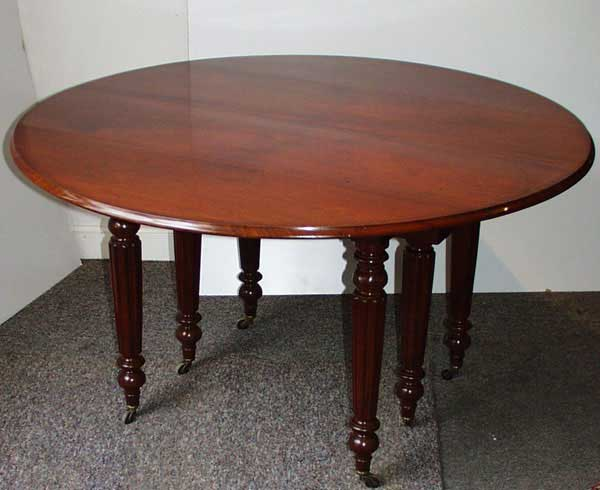 Ric de br geot antiquit s for Table 6 pieds louis philippe